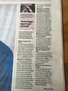 Article in Ystads Allehanda about Magma + Mats/Morgan Duo