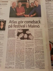 Article about PC16 - part I / Atlas' reunion in Skånska Dagbladet.