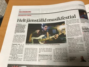 Article in Helsingborgs Dagblad 2017-04-27 about PC17 being the first gender equal prog rock festival.